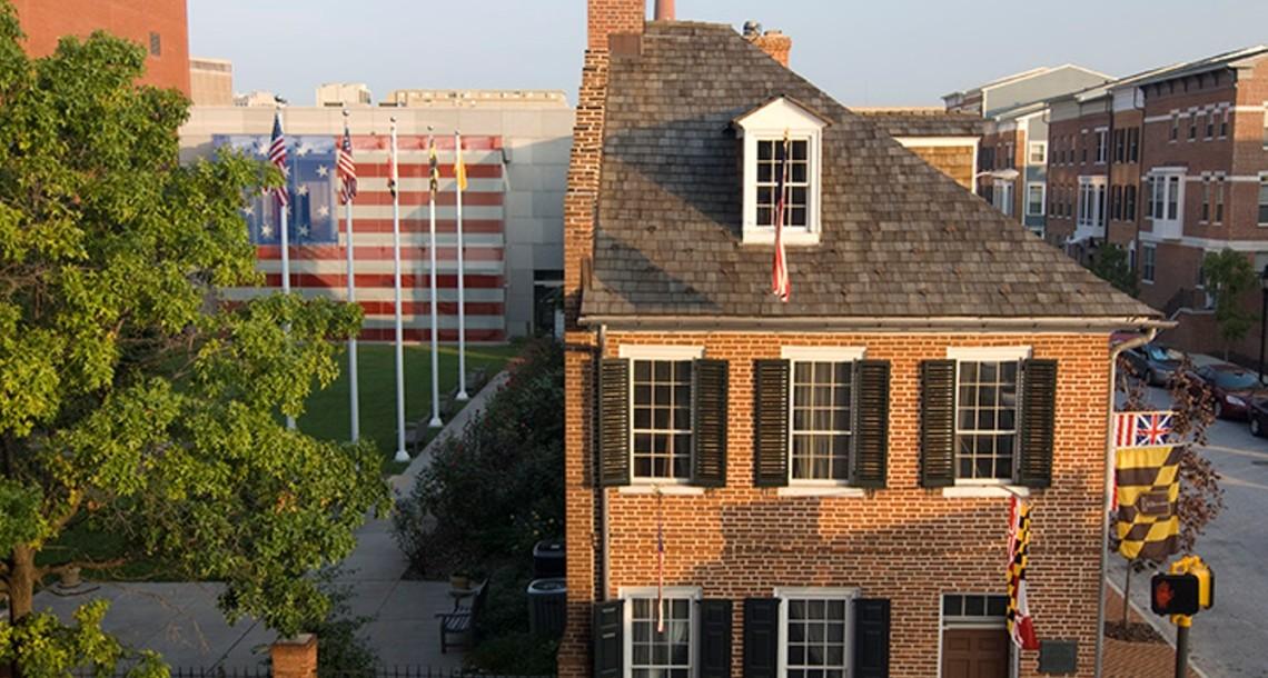Flag House Aerial